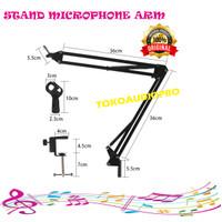 Stand mic studio murah / stand mic jepit /arm stand