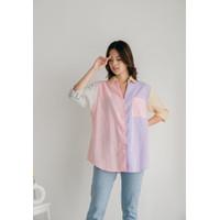 Multicolour pastel shirt ala stradivarius bershka [PREMiUM]