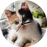 Jam Dinding Custom Cat / Kucing 11 Animal Edition Bisa Request Gambar