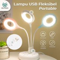 Lampu Meja Belajar LED USB Portable Lampu Baca Mini Flexible - USB Fle