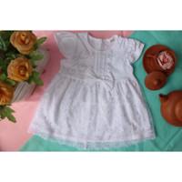 Baju Bayi Perempuan Dress Putih Brukat Kondangan Baptis Aqiqah Akikah