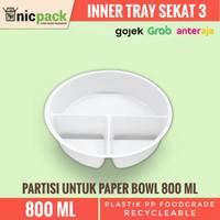 Inner Tray Sekat 3 Paper Bowl 800 ml
