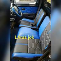 cover jok mobil/sarung jok mobil pik up grand max warna biru hitam