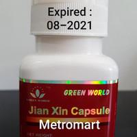 TERBARU JIAN XIN CAPSULE GREEN WORLD / OBAT JANTUNG / NYERI DADA