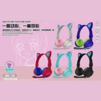 Headphone Bando Cat BK-78 / Headset Bando Ear Cat LED BK-78