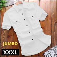 Kemeja Pria Jumbo Big Size XXXL Lengan Pendek | Baju Kemeja kantor