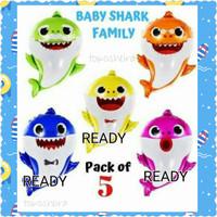 Balon Baby Shark Jumbo Biru Kuning Pink Balon Ikan Hiu Binatang Laut