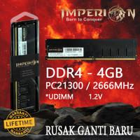 RAM IMPERION DDR4 4GB 2666 MHz PC21300 RAM PC LONGDIMM GARANSI RESMI