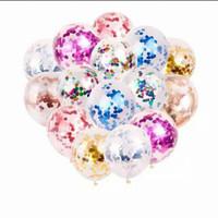 Balon latex transparan isi confeti / balon konfeti gold silver