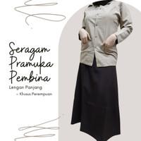 Baju/Seragam Pramuka PEMBINA (khusus Perempuan), Lgn Pjng-Bhn KATRINA