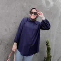 Baju Atasan Wanita Blouse Muslim Katun Rayon Polos Jumbo