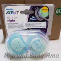 Empeng Philips Avent Ultra Air Night Pacifier 0-6m Twin pack original