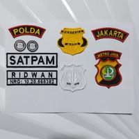 Atribut satpam BORDIR lengkap
