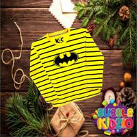 Baju Anak /Kaos Anak Murah Laki-Laki Lengan Panjang Motif Bat Yellow