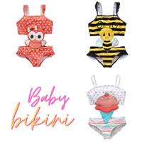 Baju Renang Tankini Bikini Swimsuit Anak Bayi Balita Perempuan SW2012 - Bee, 2 tahun