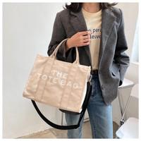 Tas Wanita Shoulder Bag Bahan Kanvas Premium - Jisoo Bag - cream