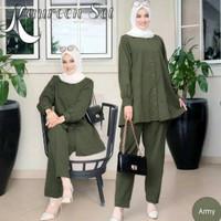 Setelan Syari Wanita 2 in 1 Baju Muslim Wanita Kauren Kekinian Premium