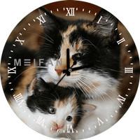 Jam Dinding Custom Cat / Kucing 10 Animal Edition Bisa Request Gambar