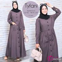 Gamis Murah Terbaru Baju Muslim Wanita Tyfani Dress by Ggs