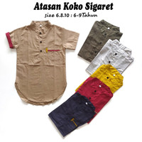Baju Koko Anak Kurta / Pakaian Muslim Anak Laki Laki Cowok 6-8Thn