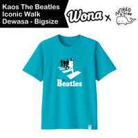 Kaos Naked & Free The Beatles Iconic Walk Dewasa-Bigsize Katun 30s
