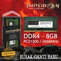 RAM IMPERION DDR4 8GB 2666 MHz PC21300 RAM LAPTOP SODIMM GARANSI RESMI