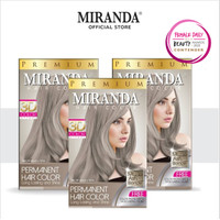 Miranda Hair Color (Cat Rambut Permanen) 30ml x3 - Ash Blonde