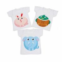 Kaos Oblong Bayi Bergambar size S/ Kaos anak/Baju Bayi/Atasan (Sablon)