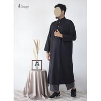 Jubah Gamis Pria / Baju Muslim Pria / Gamis Ikhwan Kerah Arab D'Ihsan
