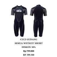 BAJU DIVING SNORKELING WETSUIT DRYSUIT Neoprene Shorty Wetsuit WS-B001