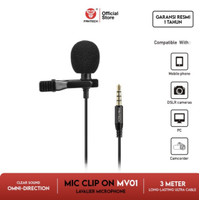 Fantech MV01 Microphone Clip On Lavalier Mic Jepit 3 meter Cable