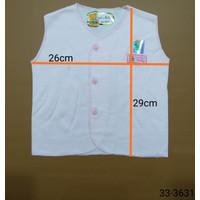 3 PCS BAJU BAYI NEWBORN POLOS WARNA LUCKY BABY (33-363X) - Lengan Buntung
