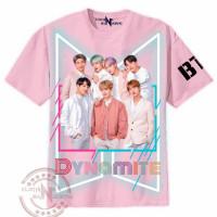 Kaos BTS DryFit full print anak cewek 2 sampai 10 tahun , baju kpop