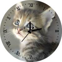 Jam Dinding Custom Cat / Kucing 8 Animal Edition Bisa Request Gambar