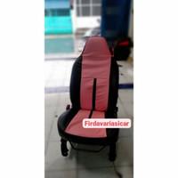Cover Jok Mobil Agya Ayla Pink Kombinasi Hitam / Sarung jog mobil Agya