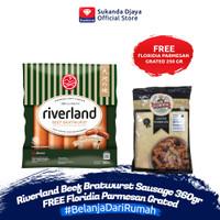Riverland Beef Bratwurst Sausage 360gr FREE Floridia Parmesan Grated