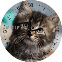 Jam Dinding Custom Cat / Kucing 1 Animal Edition Bisa Request Gambar