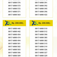 Perdana Nomor Cantik XL 11 Digit Seri Abab 9090 0817 69090 10 RW12