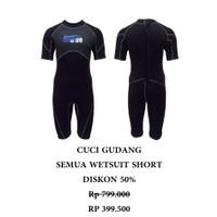BAJU DIVING SNORKELING WETSUIT DRYSUIT Neoprene Shorty Wetsuit WS-B002