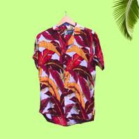 baju pria motif surfing lengan pendek Tropical Summer Aloha Hawaii