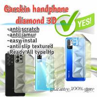 garskin hp -anti gores belakang hp diamond 3D transparan all merek hp