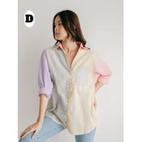 Multicolour pastel shirt ala stradivarius bershka [PREMiUM] - Motif D