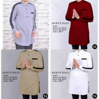 Baju koko pria lengan panjang Qurta Raja / baju muslim pria L XL XXL