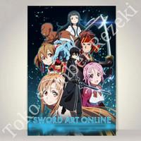 Poster Figure Sword Art Online Alicization War Paper Kanvas Silica