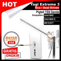 Antena Orbit MAX Huawei B818 Modem Router Yagi Extreme 3 TS9 Dual