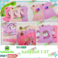 Baju Dress anak Motif kuda poni/dress anak unicorn umur 1-5 thn/anak p