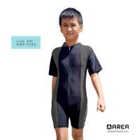 baju renang anak laki laki 10 tahun terusan pendek ( 6 - 10 tahun) - Abu-abu, M