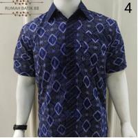 Kemeja Batik Pria Lengan Pendek Murah Baju Batik Cowok Coklat Motif