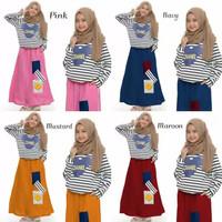 Setelan baju muslim anak perempuan 7 - 9 tahun / setelan anak muslimah