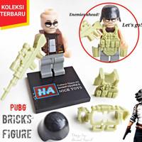 BRICKS PUBG ACTION FIGURE INCLUDE WEAPON ARMOR - LEGO BRICK PUBG murah